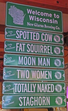 New Glarus beers on tap