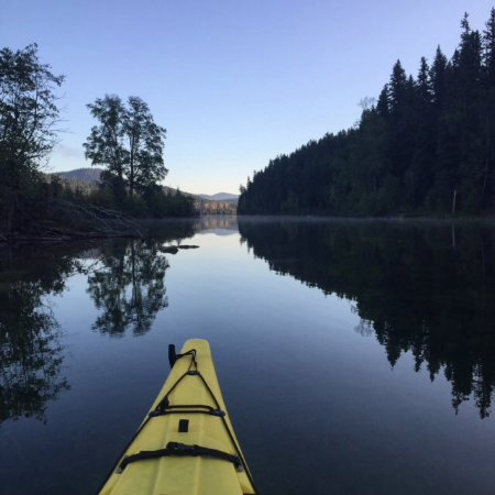 Lone Butte, Καναδάς: Early morning kayak on the lake