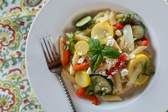 Pleasanton, KS: Penne with Roasted Summer Vegetables at Cedar Crest Lodge