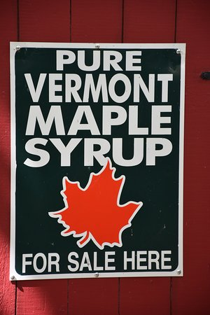 Derby, VT: Sign outside the Sugar House Museum