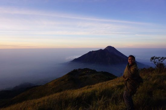 Mount Merbabu National Park: view gunung merapi