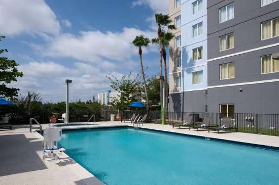 Outdoor Pool Picture Of Homewood Suites Miami Airport