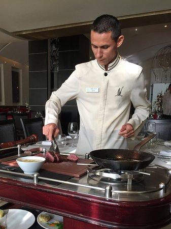 Casa Velas: Chateaubriand prepared tableside