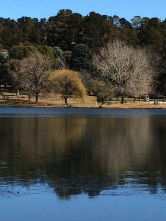 Orange, Australia: Winter reflections in the lake