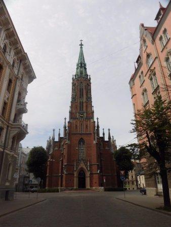 Región de Riga, Letonia: 教会の正面