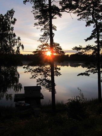 Vittsjo, Sweden: Så er solen opppe