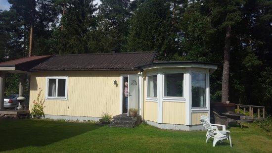 Vittsjo, Sweden: Hytten ved søen