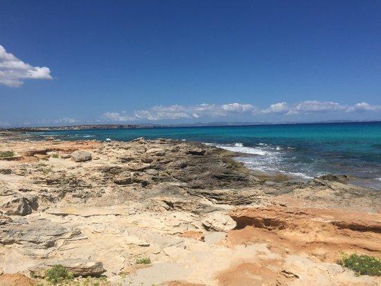 Playa Ses Platgetes: schön zum Schnorcheln