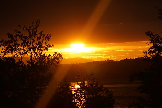 Camping Vitznau: Sonnenuntergang