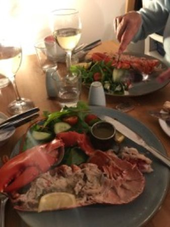 Achiltibuie, UK: Lobster (couldn't wait!)