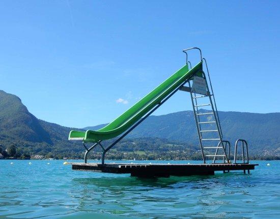 Menthon-Saint-Bernard, France: beach slide