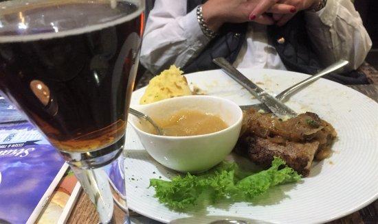 Restaurant Kochpott: Leber mit Pü und Apfelmuß