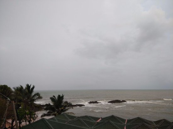 Anjuna, Indie: View from the balcony.