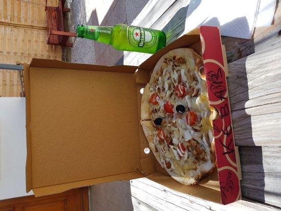 Lagarrigue, France: menu du midi pizza kebab et boisson pour 10 euros, sa change du fast food classique !!!☺