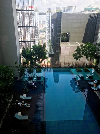 21st Floor Swimming Pool Oasia Hotel Downtown Picture Of Oasia Hotel Downtown Singapore By