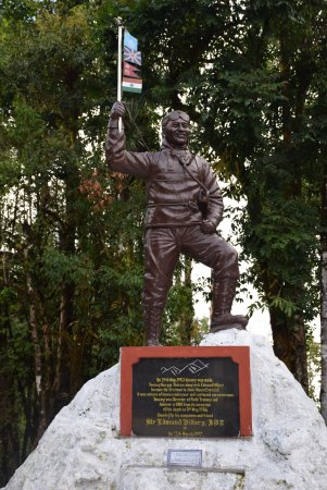 Himalayan Mountaineering Institute: This is the statue of Tenzing Norgay Sherpa just outside the museum.