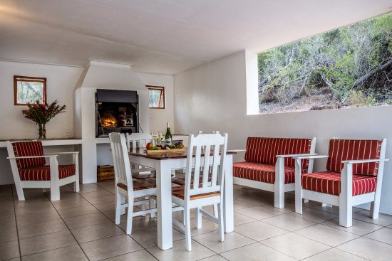 Robertson, Republika Południowej Afryki: Fine View Cottage Braai area.