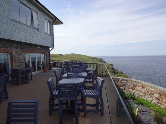 Lewinnick Lodge (restaurant - Pentire headland, Newquay, cornwall - outdoor seating