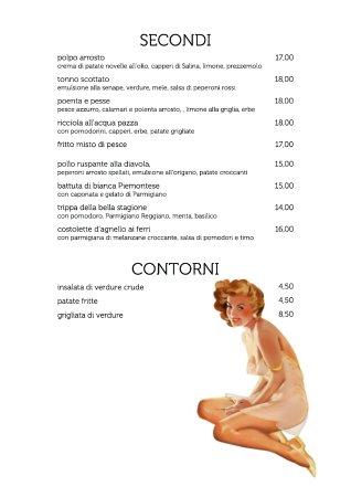 Palazzolo dello Stella, Italy: menu estate 2017 così com'è in ristorante