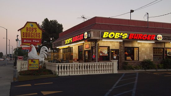 La Puente, Kalifornia: From the outside, you can see our mascot, bob the chicken