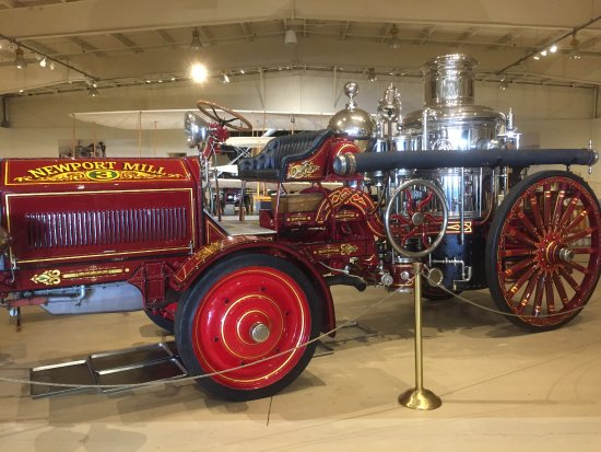 Owls Head, ME: A steam powered Fire Pumper, just one of many special vehicles on exhibit.