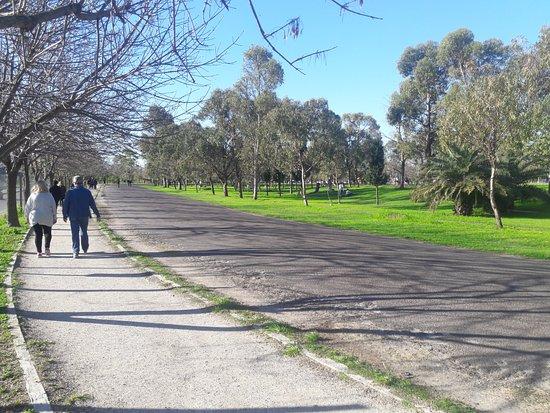 Velodromo De Lanus: Gente caminando por el sendero