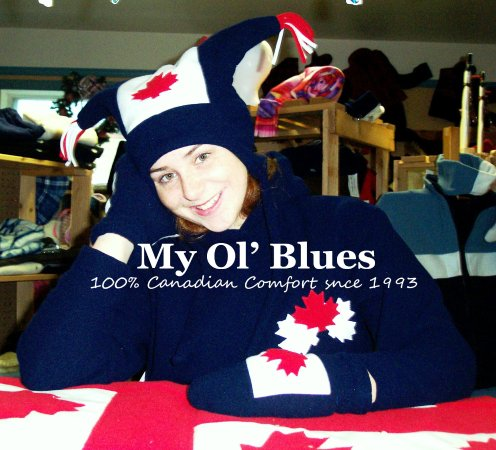 Gore Bay, Καναδάς: My Ol' Blues proud to design, manufacture, wholesale, retail Canadaina wear for all ages