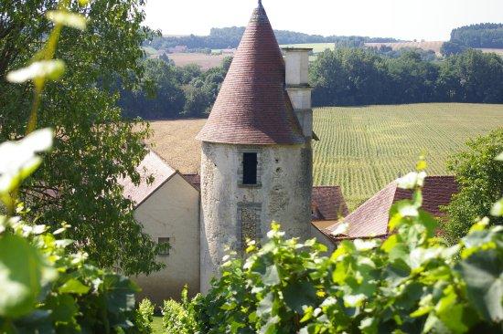 Chareil-Cintrat, Francia: Uitzicht vanuit de landerijen