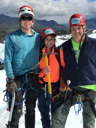 Glacier View, AK: Went on a fantastic advanced trek ice climbing adventure with Chris Martin.