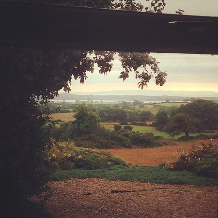 The sunrise from the lounge window of Blackthorn cottage. Looking out to Strangford Lough