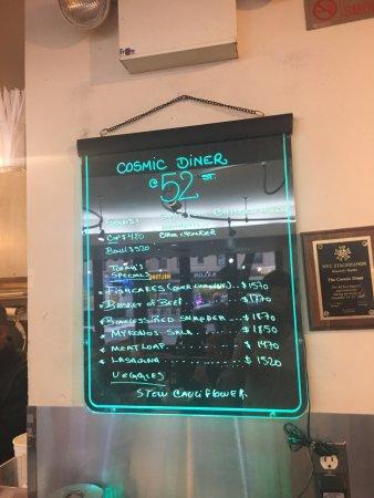 Cosmic Diner : Retro Menu