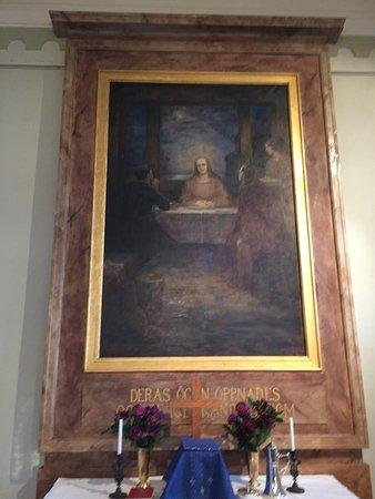 Umeå, Zweden: Altarpiece in Holmönchurch