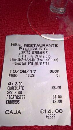 Limpias, Ισπανία: Ticket