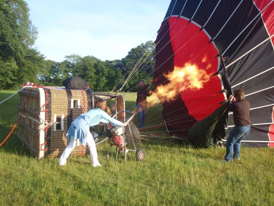 Trim, Ireland: Inflating the balloon