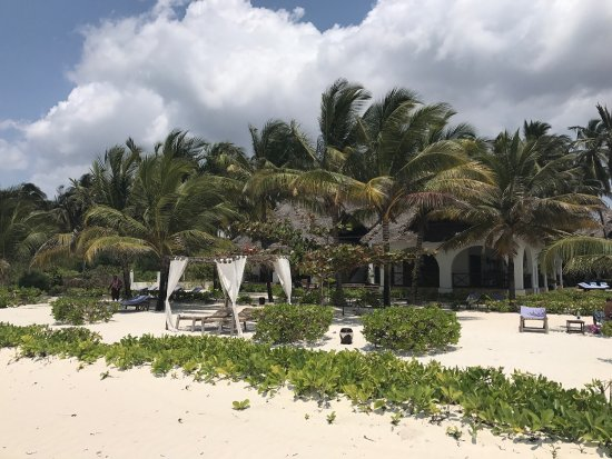 Next Paradise Boutique Resort: The view from the beach back onto one part of the resort.