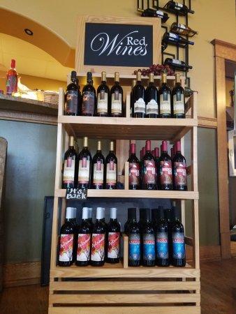Carroll, IA: Santa Maria Red Wines Display.