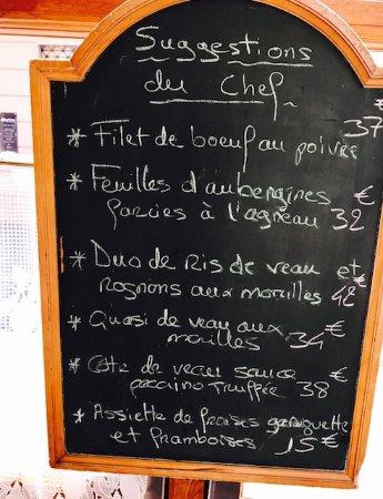 LA CAVE : Suggestion de Chef