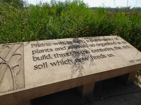 Wilmington, IL: Kudos to Aldo Leopold for the quote and to the government for acknowledging it.