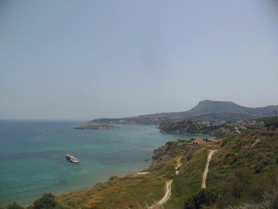 Plaka, Yunanistan: Вид на мыс Плака