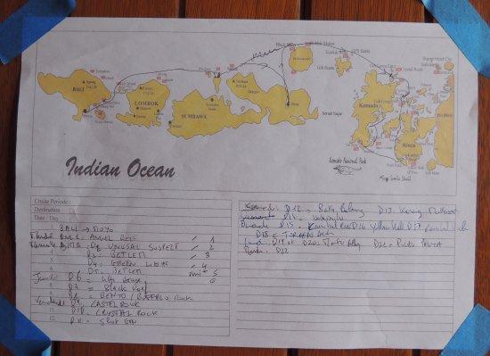 Kerobokan, Indonesia: NOTRE CROISIÈRE ET NAVIGATION