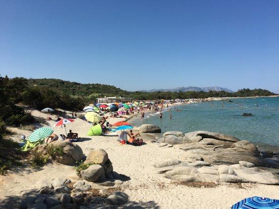 Tortoli, Italie : Blick auf den Strand