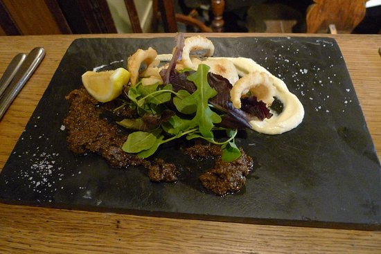Blackboys, UK: Fried squid with home-made tapenade and aioli
