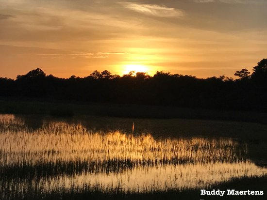 Darien, GA: A magnificent sunset over the marsh.