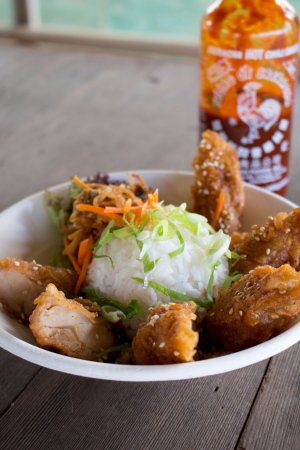 Korean Fried Chicken Rice Bowl Picture Of Hana Burger Food Truck