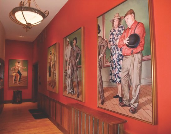 Lobby murals at The Dance Hall
