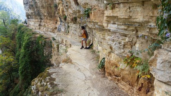 Vikos – Aoos National Park: The Monastery of Saint Paraskevi is an abandoned monastery situated on the edge of Vikos