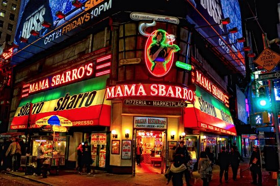Sbarro: Outside