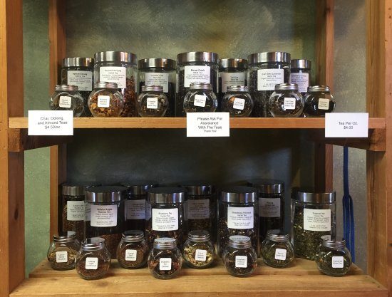 Alliance, OH: We offer a wide variety of teas! All of which you can smell before choosing!