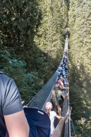 North Vancouver, Canada: The famous Capilano Suspension Bridge