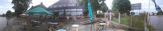 Akkrum, Nederländerna: achterkant hotel